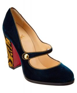 Christian Louboutin Velvet Mary Jane Pumps
