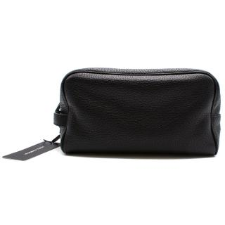 Dolce & Gabbana black pebble leather wash bag