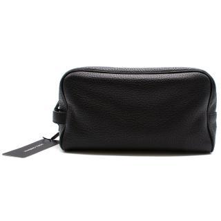 Dolce & Gabbana black pebble leather wash bag