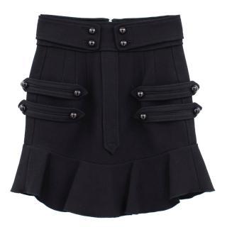 Isabel Marant black wool blend mini skirt