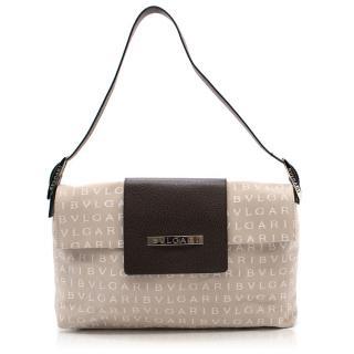 Bvlgari beige monogram shoulder bag
