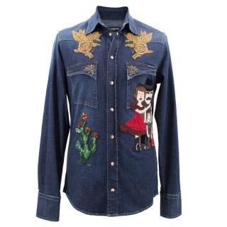 Dolce & Gabbana embellished denim shirt