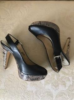Michael Kors platform peeptoe leather shoes