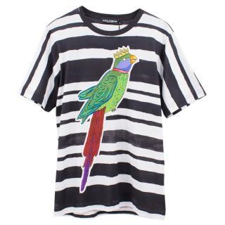 Dolce & Gabbana striped printed cotton t-shirt