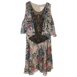Anna Sui Floral Silk Dress