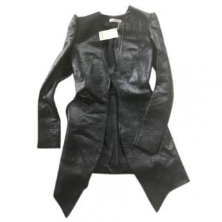 Mugler new black wool blend coat