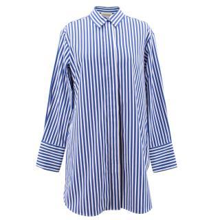 Malene Birger cobalt striped cotton shirt