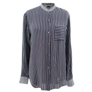 Theory Navy Striped Shirt