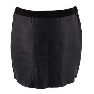 Isabel Marant black leather mini skirt
