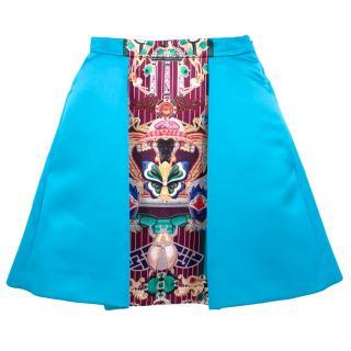 Mary Katranzou Totem Print Pleated Skirt