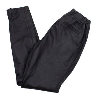 Oakwood black leather trousers