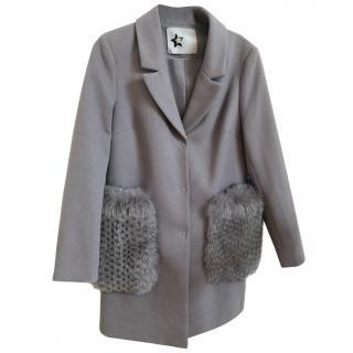 Bespoke coat with polar fox pockets