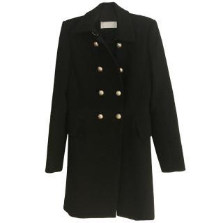 Chloe Double Breasted Black Coat