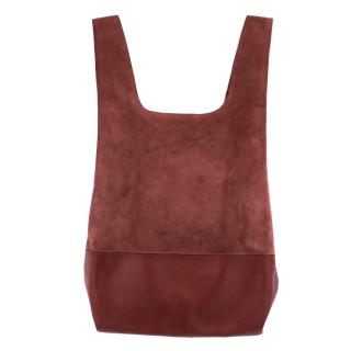 Hayward Burgundy Suede and Leather Shopper Bag