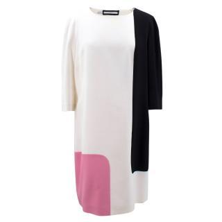 Aquilano.Rimondi Colour Block Silk Blend Dress