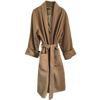 Roaul beige wool and cashmere coat