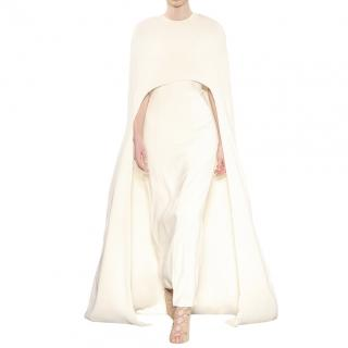 Zeynep Kartal Cream Cape Gown