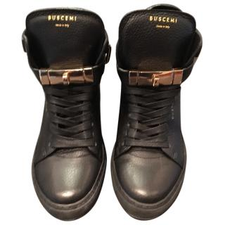 Buscemi Black Leather High tops