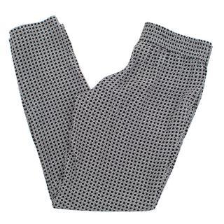Joie black dot print silk trousers