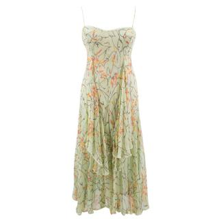 Missoni Green Floral Dress with Gold Thread