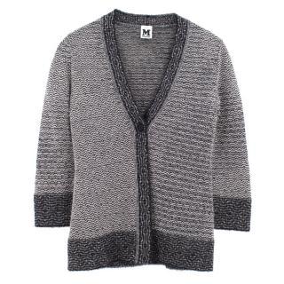 Missoni black wool blend pattern cardigan