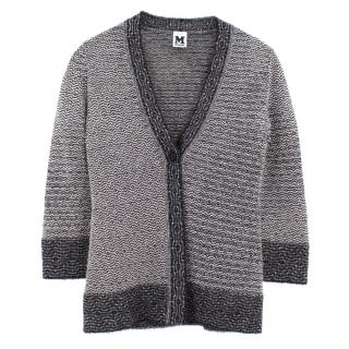 Missoni black wool blend pattern cardigan
