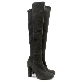 Stuart Weitzman Grey Knee High Boots
