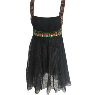 Missoni crochet pleated beaded dress, UK 8-10