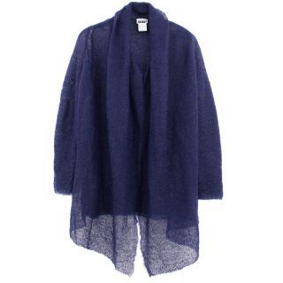 Issey Miyake navy wool cardigan