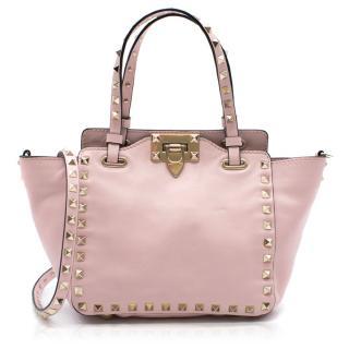 Valentino Garavani blush pink rockstud mini tote