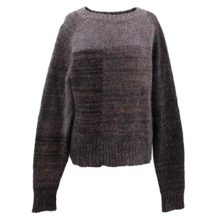 Isabel Marant grey wool and mohair blend jumper