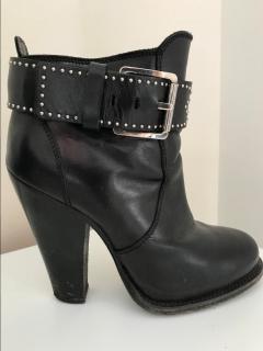 Barbara Bui black studded boots