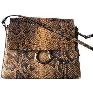 Chloe Faye Python Medium bag