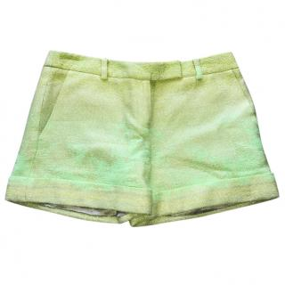 Matthew Williamson Green Lime Ombre Shorts