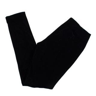 Sachin & Babi black velvet skinny trousers
