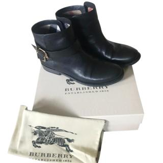Burberry Leather black ankle boots