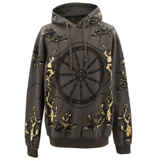 Dolce & Gabbana wheel/roses/cherub hooded sweatshirt
