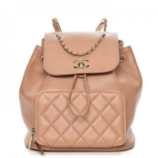 Chanel Beige Business Affinity rucksack