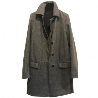 Acne grey wool coat