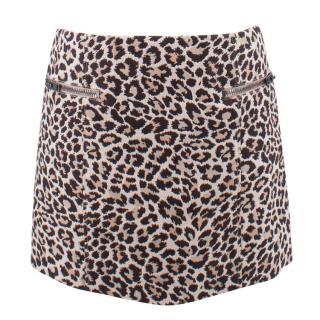 Joseph Leopard Print Skirt