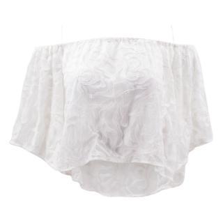 Intermix white lace off shoulder top