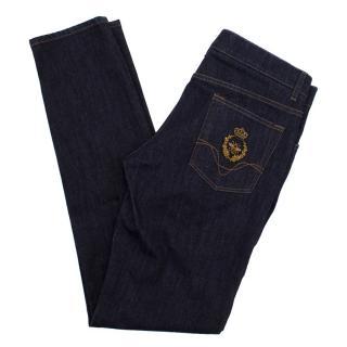 Dolce & Gabbana Bee Emroidered denim jeans