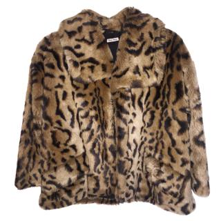 Miu Miu faux fur cape