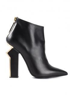 Gianmarco Lorenzi Gold Heeled Ankle Boots