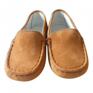 Tods Tan Junior Loafers