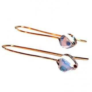 Moonstone earrings 18ct Gold Feature Post