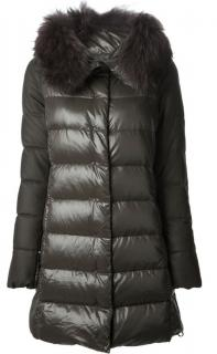 DUVETICA Puffer Coat Jacket Fur Trim