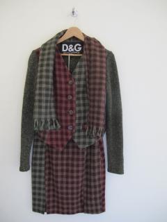 D&G suit skirt jacket
