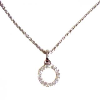 Diamant La Parisienne Diamond Circle Pendant Necklace