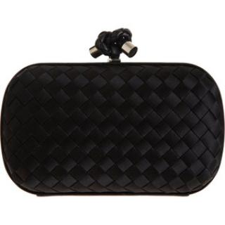 Bottega Veneta bag clutch satin knot clutch